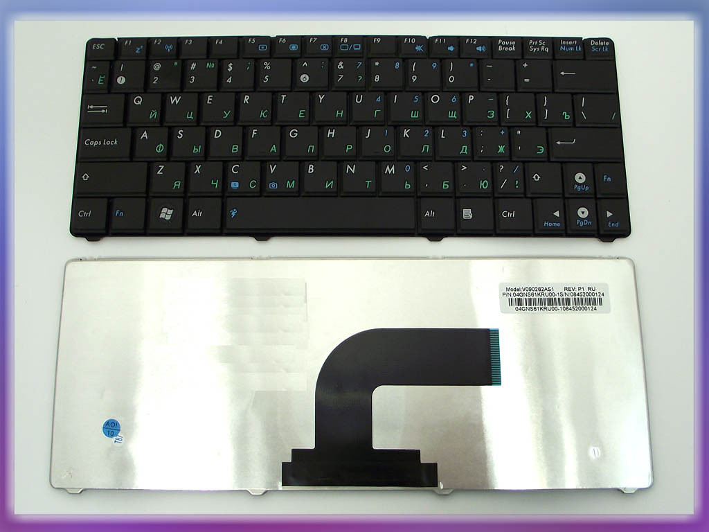 Клавиатура ASUS EEE PC N10E RU Black ). Оригинальная. Русская. Цвет Че