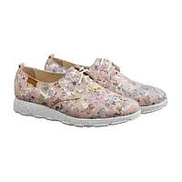 Рожеві кросівки з натуральної шкіри в квіточку