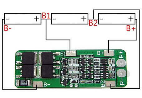 BMS Контроллер 3S 15A 11.1V для 3-х аккумуляторов Li-Ion, фото 2