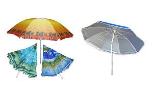 Пляжный зонт с наклоном Anti-UV  200см (Защита от ультрафиолета)
