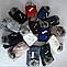 Комплект шапка с бубоном и хомут зимний м 6073, разные цвета, фото 3