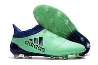 Футбольные бутсы adidas X 17+ Purechaos FG Aero Green/Unity Ink/Hi-Res Green, фото 1