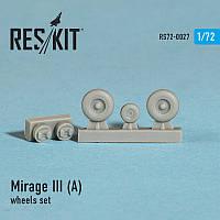 Dassault Mirage III (A) wheels set 1/72  RES/KIT 72-0027