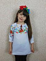"""Вышиванка """"Маки"""" для девочки от производителя, фото 1"""