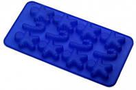Силиконовая форма шоколад / Лед, ассорти 12 шт лист
