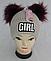Шапка вязаная для девочки с помпонами GIRL кашемир, разные цвета, фото 3
