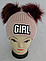 Шапка вязаная для девочки с помпонами GIRL кашемир, разные цвета, фото 4