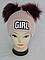 Шапка вязаная для девочки с помпонами GIRL кашемир, разные цвета, фото 5