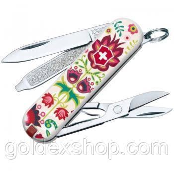 Нож складной, мультитул Викторинокс Victorinox CLASSIC Rooster Happy Folks (58мм, 7 функций), 0.6223.L1603