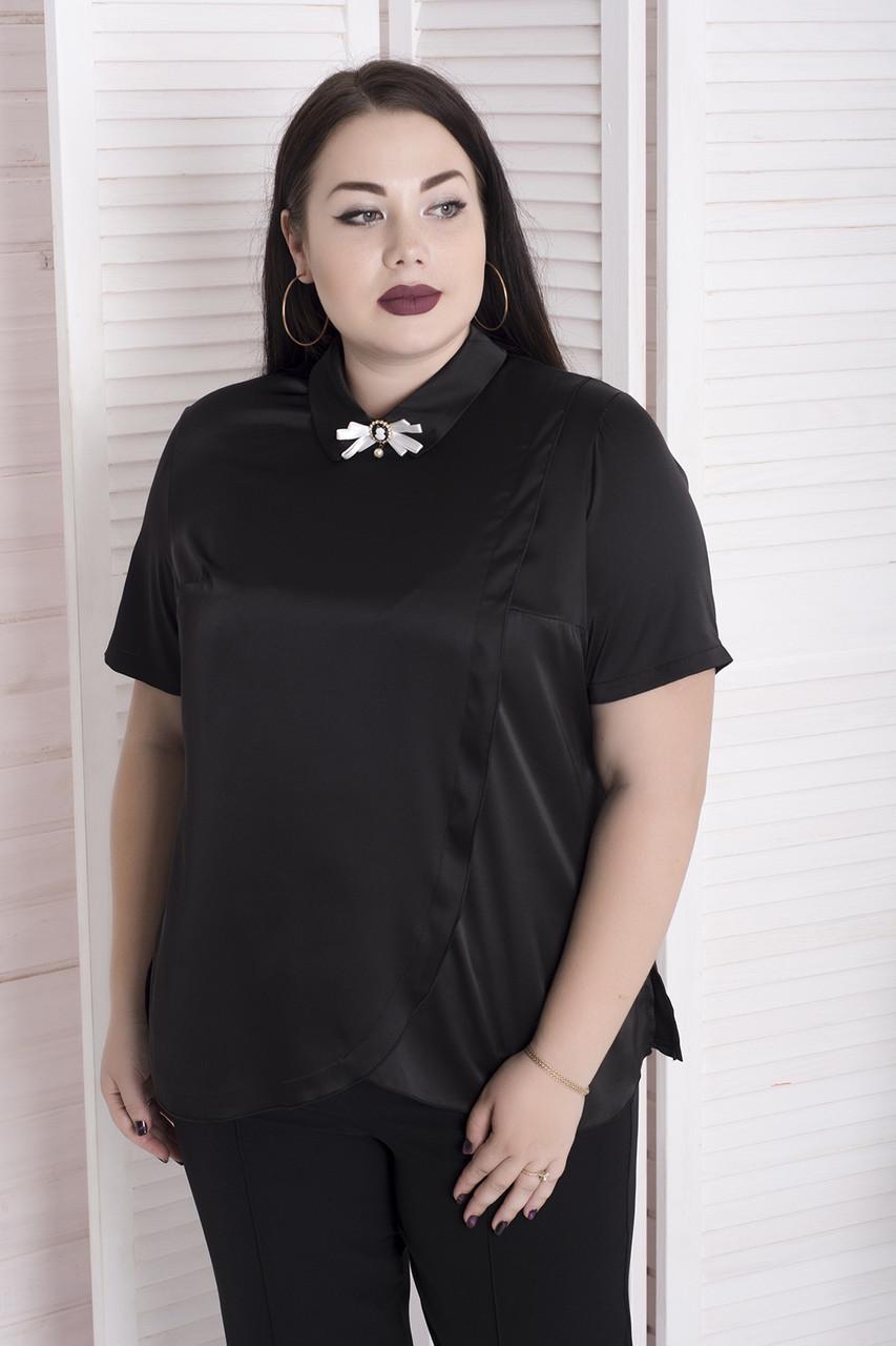 96869a30440 Черная шелковая блузка Миранда (48-82) - 700 грн. Купить в Украине ...