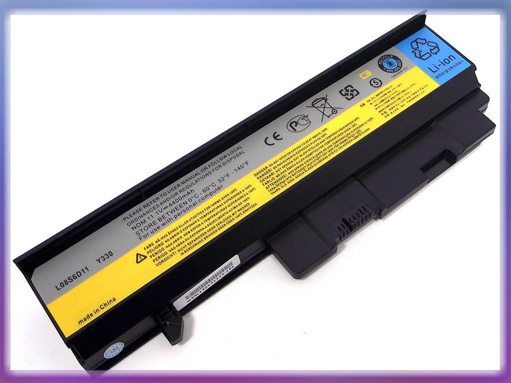 Батарея Lenovo (L08L6D11) IdeaPad Y330G L08S6D12 (10.8V 4400mAh). Blac