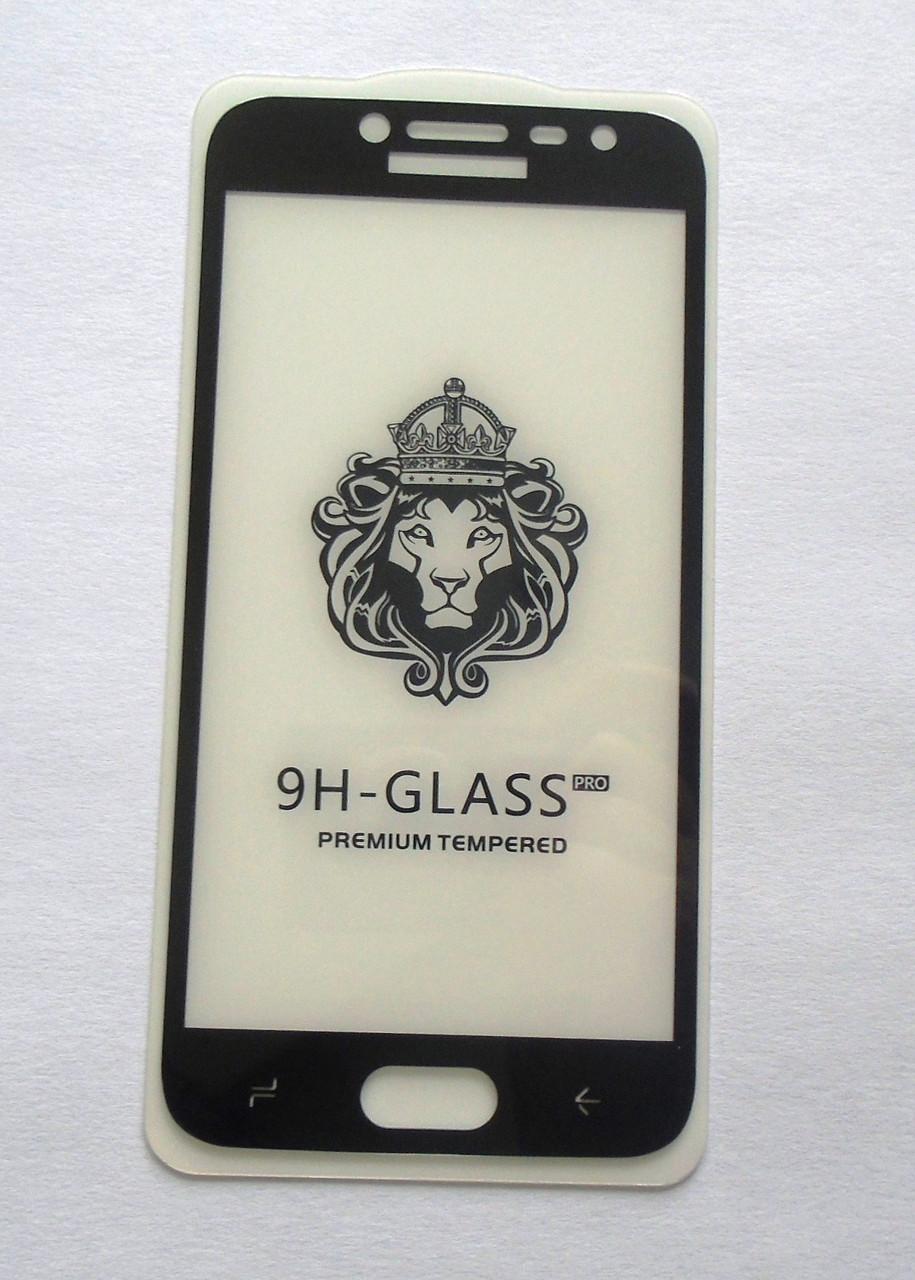 Защитное 5D стекло Samsung J2 2018 Black  full Screen клей по всей поверхности