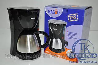 MAGIO Кофеварка 980Вт на 1,2л (12 чашек) MG-343
