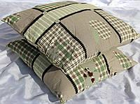 Подушки из овечьей шерсти от производителя, ткань хлопок, широкая цветовая гамма, размер 70х70см/квадратные, фото 1