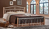 Кованная двуспальная кровать Миранда 1800х2000, цвет крем