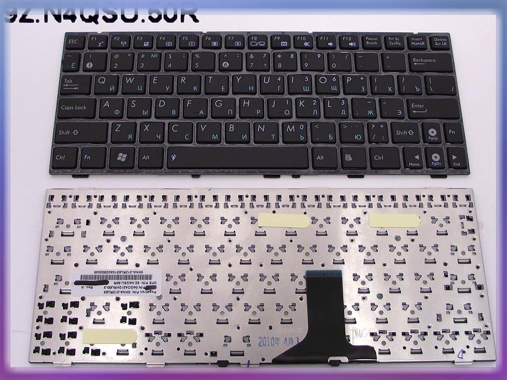 Клавиатура ASUS EEE PC 1005PX ( RU Black глянцевая с рамкой). Оригинал