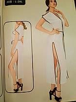 Длинный пляжный халат Контраст 5016 белый на размеры 48 50.  , фото 3