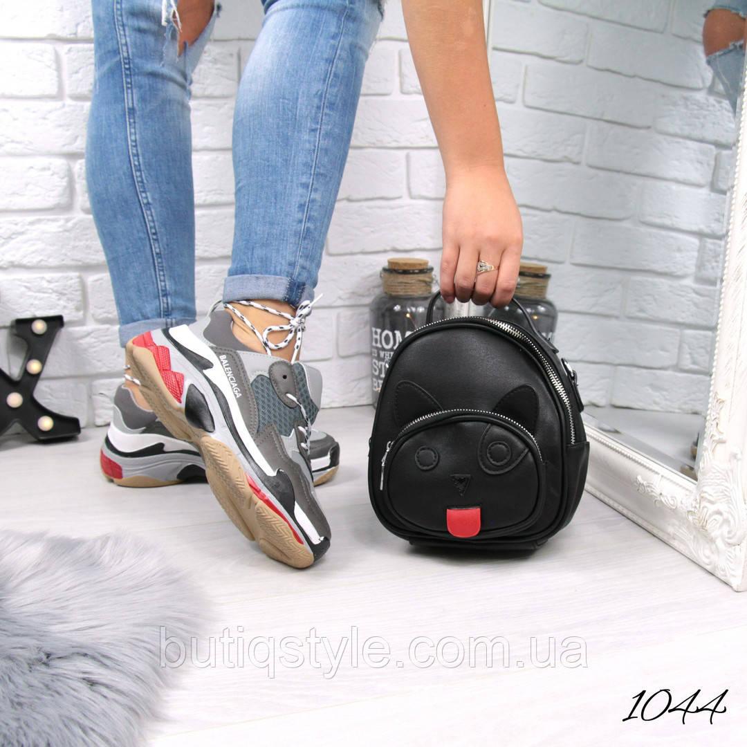 Женский черный рюкзак Cat ,экокожа