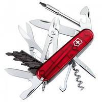 Нож складной Мультитул Викторинокс Victorinox CYBERTOOL (91мм, 34 функции), красный прозр. 1.7725.T