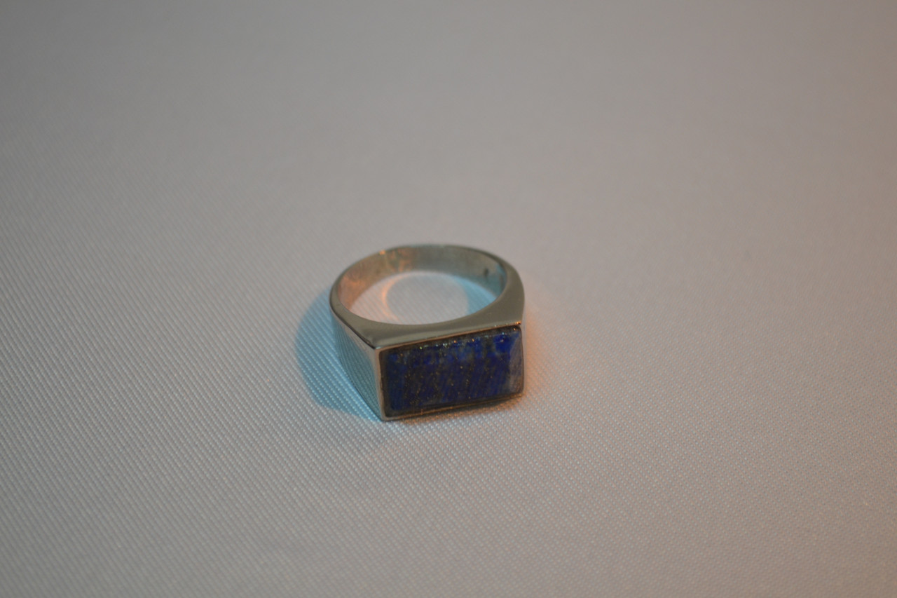 """Кольцо из камня """"Лазурит""""№18(мужское)"""