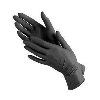 Перчатки нитриловые уплотненные черные