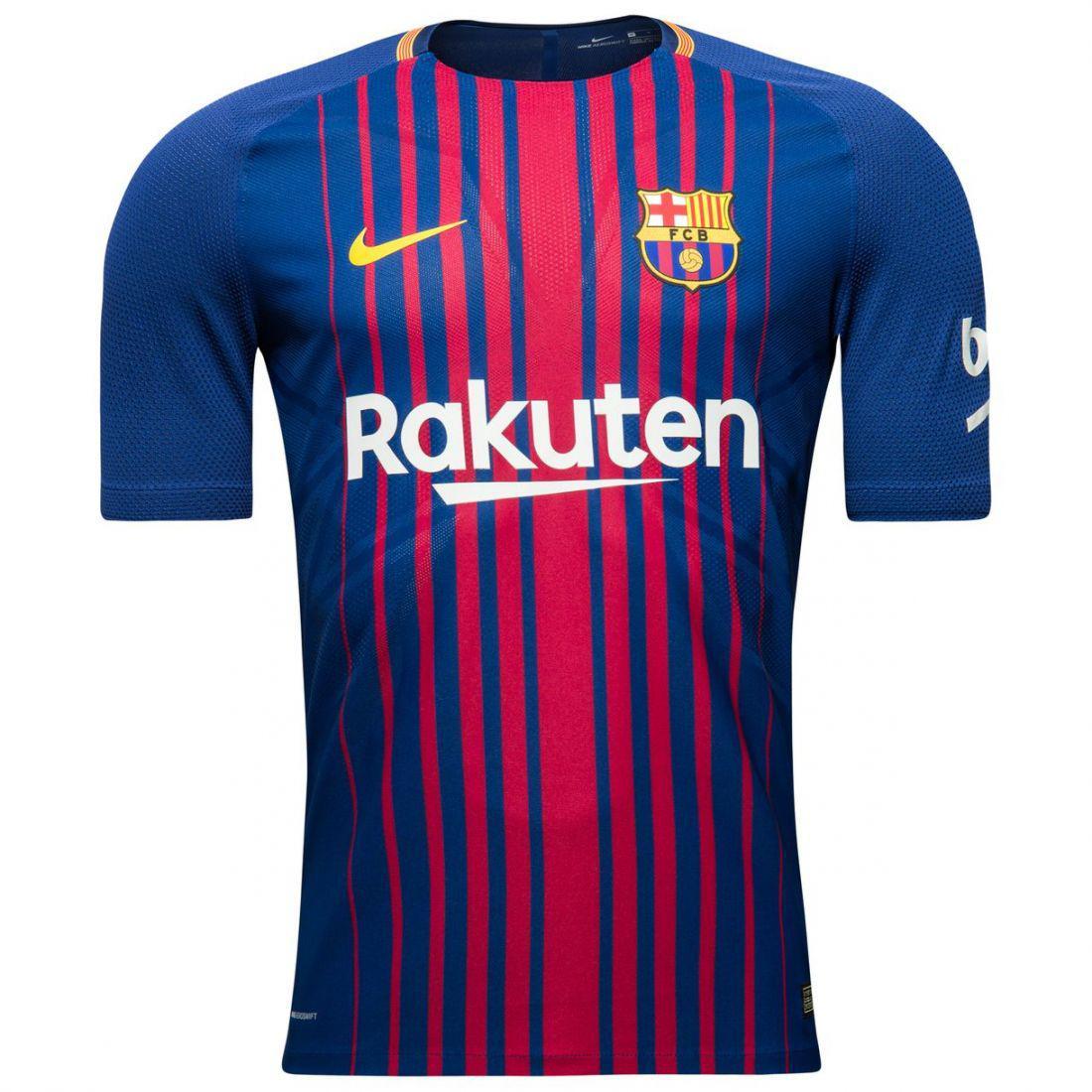 Игровая футболка Барселона (домашняя ААА качество), сезон 2017/18