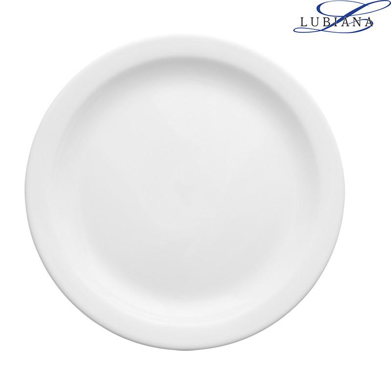Тарелка фарфоровая мелкая Lubiana Ameryka 230мм