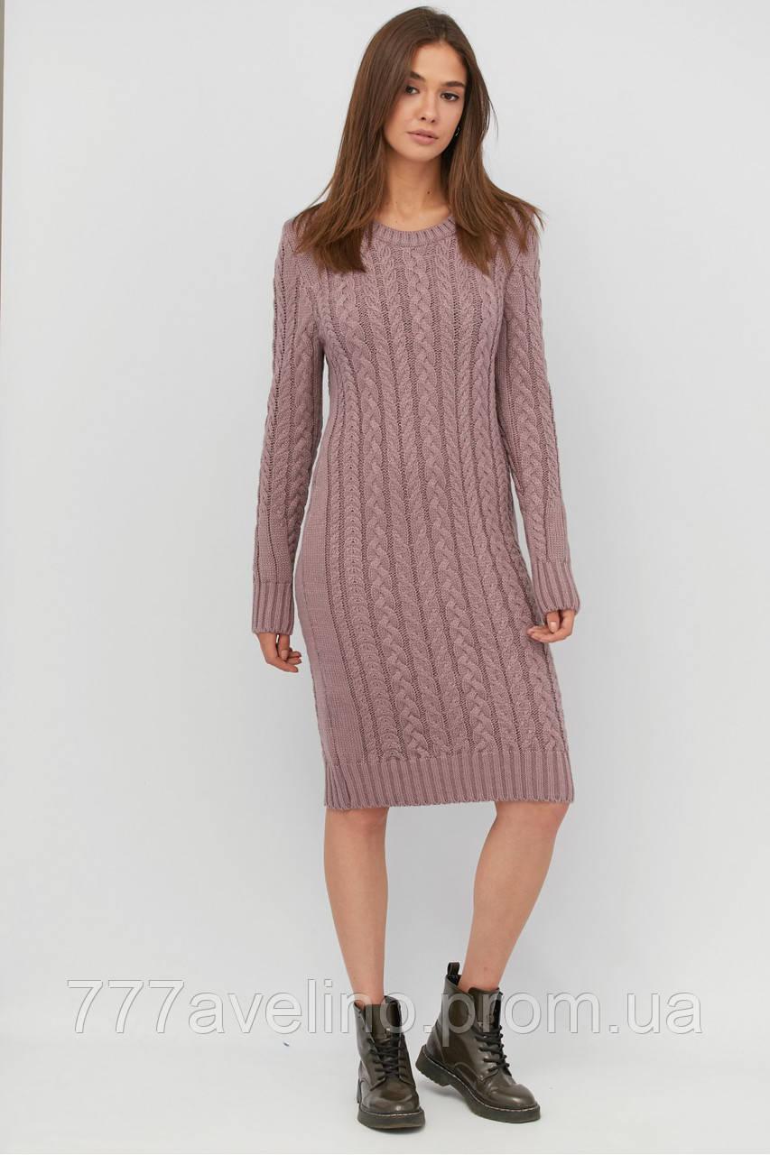 Платье женское вязаное шерстяное стильное