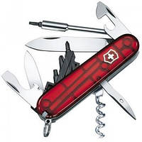 Нож Складной Мультитул Викторинокс Victorinox CYBERTOOL (91мм, 29 функций), красный прозр. 1.7605.T