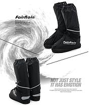 Защитные мото бахилы под мотоботы мото обувь, фото 3