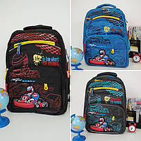 Рюкзак ортопедический для мальчиков Гонка размер 40х30х18