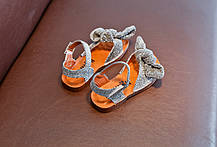 Босоножки для девочки модные с люрексом и массажной стелькой (видеообзор), фото 2
