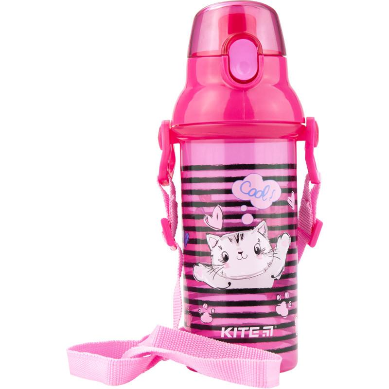 Пляшечка для води, 470 мл, рожева