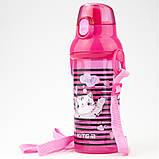 Пляшечка для води, 470 мл, рожева, фото 2