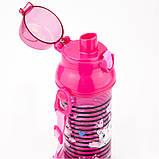 Пляшечка для води, 470 мл, рожева, фото 3