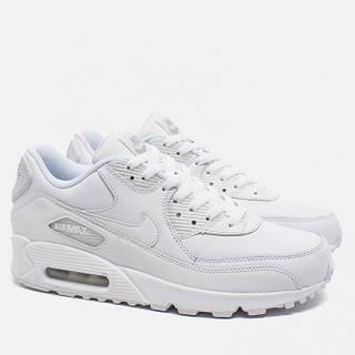 Кроссовки мужские Nike Air Max 90 Leather All White оригинал   Найк Аир  Макс 90 Лезер 5c67f3271f8