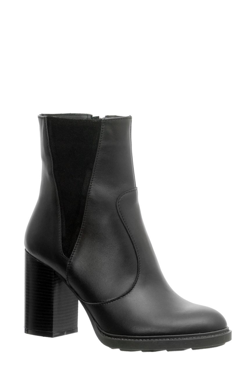 Жіночі замшеві черевики шкіряні напівчеревики TIFFANY на підборах