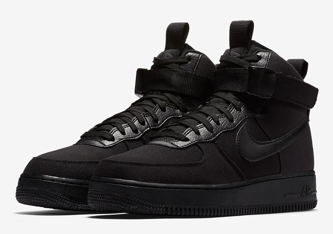 2c4002d8 Кроссовки мужские Nike Air Force High Black | Найк Аир Форс мужские черные