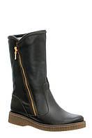 Женские кожаные ботинки полуботинки полусапоги сапоги TIFFANY на низком каблуке платформе
