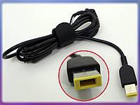 DC кабель Lenovo (USB+Pin Прямоугольный). 1.2m, 45W - 90W от блока питания к ноутбуку. Кабель с ферритовым фильтром и застежкой.