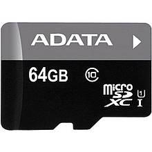AData 64GB microSDXC C10 UHS-I (AUSDX64GUICL10-R)