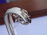 Серебряные серьги с золотой пластиной и раухтопазом, фото 4