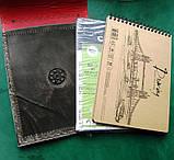 Кожаная обложка сетчбука винтажная подарок, фото 10
