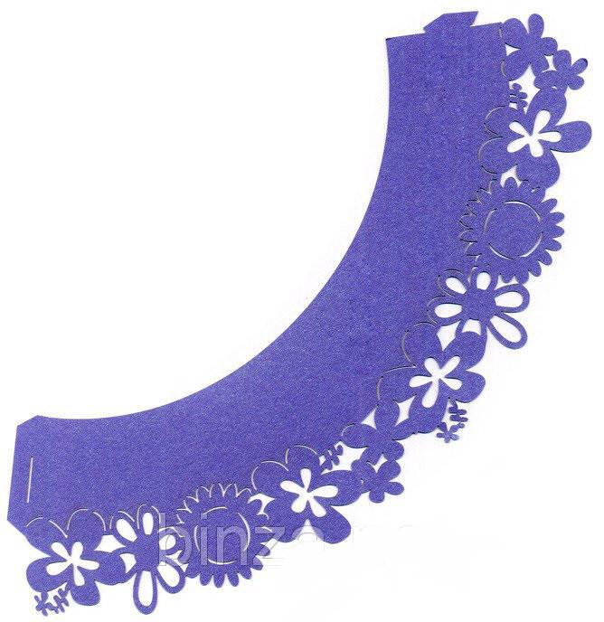 Накладка бумажная декоративная ажурная для маффинов разных цветов (уп 20 шт)