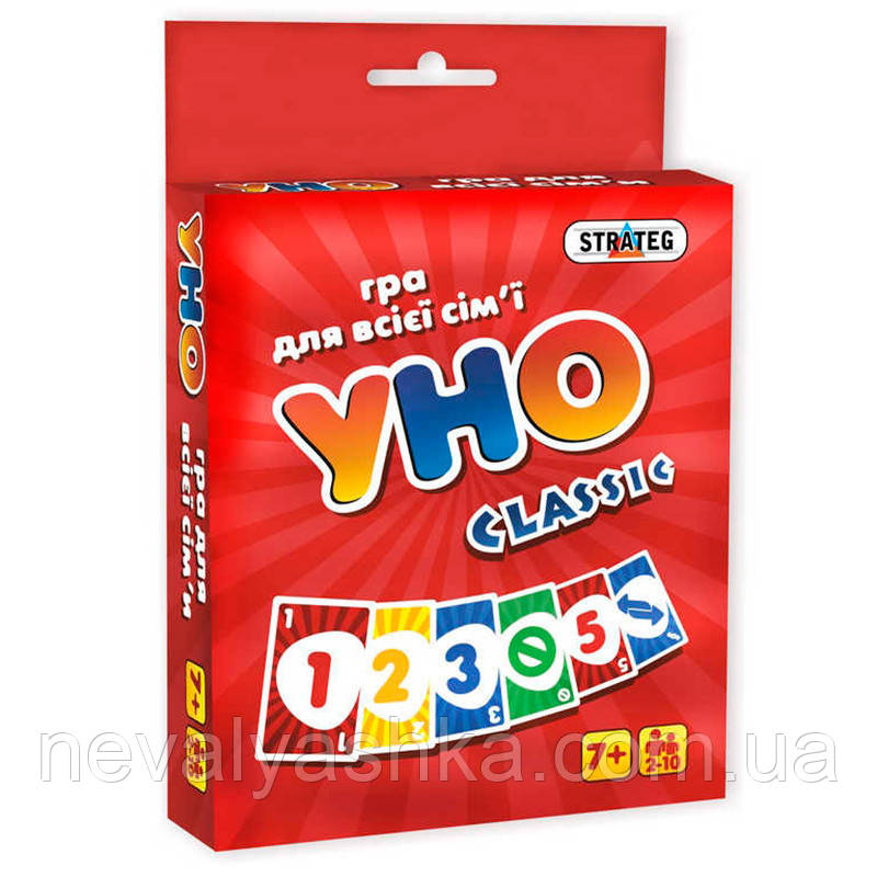 Настольная Игра Уно UNO Классическое Classic Стратег STRATEG, 7015, 008505