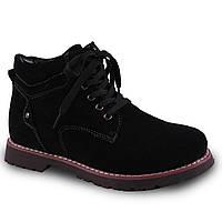 Модные женские ботинки Lifexpert(зимние, на шнуровке, удобная подошва, на замке, теплые, черные)