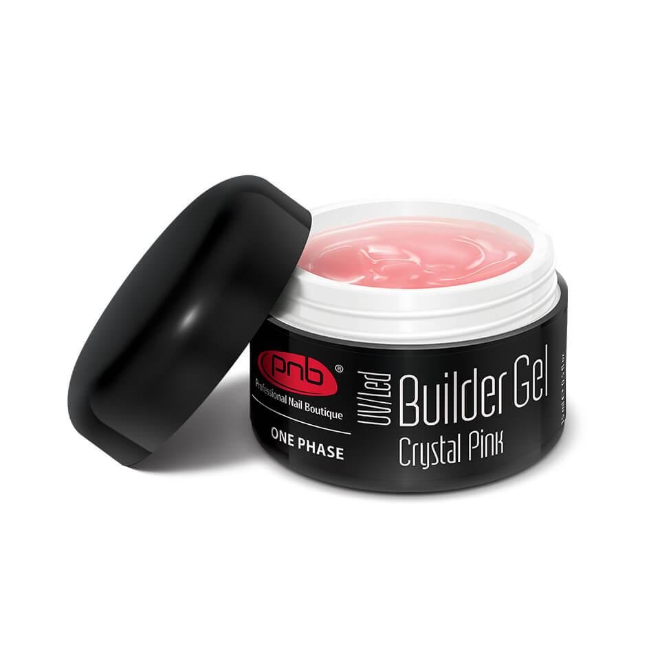 Моделирующий гель прозрачно-розовый/ UV/LED One Phase Builder Gel Crystal Pink
