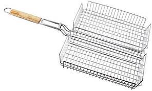 Решетка нержавеющая прямоугольная для гриля - барбекю 440*330*60 мм (шт)
