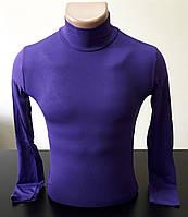 Гольф (водолазка) подростковый, вискоза, фиолетовый Размер 40-44
