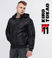11 Киро Токао | Мужской бомбер 9981-1 черный